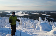 Back-country skiing Trek– Jatkonvaara Hill