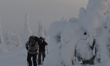 Snowshoe trek in Finland