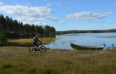mountain biking and canoeing in Hossa National Park